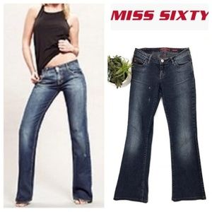 MISS SIXTY Extra Low TY Boot Cut Jeans
